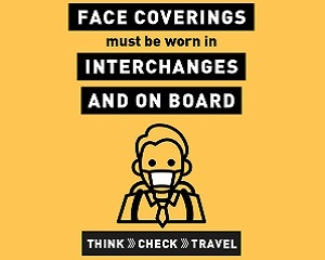 Travelling on a bus wear a face covering