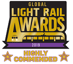 Global Light Rail Award Highly Commended 2019