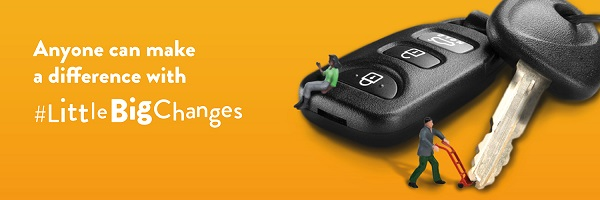 Little Big Changes header - car keys