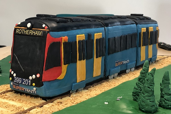 Tram Train launch day - Special Cake