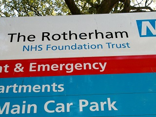 Rotherham hospital sign