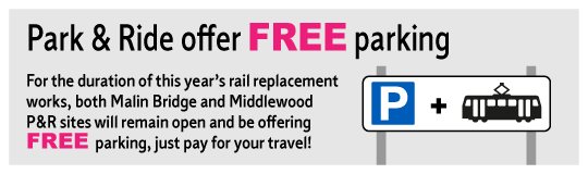 Free Park and Ride during rail replacement works 2019